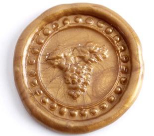 イタリア製 シーリングスタンプ シルバーメッキ (ぶどう)