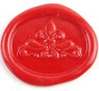 海外直輸入品 イタリア製 真鍮 シーリングスタンプ ユリ(楕円)