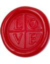 海外直輸入品 イタリア製 シーリングスタンプ LOVE(丸型)