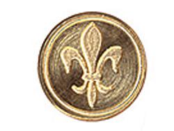 ムラーノ グラスハンドル専用 シーリングスタンプ印面 ユリの紋章