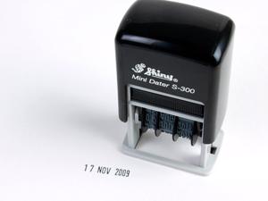Shiny ミニ データスタンプ S-300